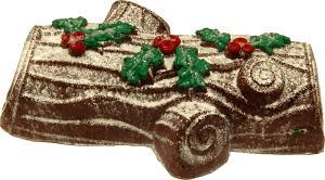 yule log fake food cake dark brown 2
