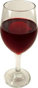 Red Wine Large Glass fake drink USA