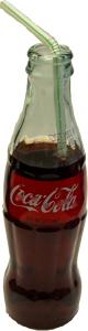 Cola Soda Glass Bottle 8oz with straw Fake Drink USA