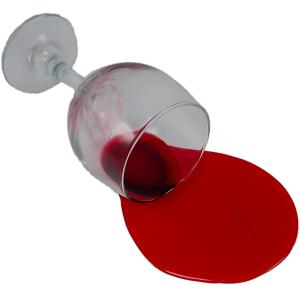 Red Wine Glass Spill fake drink USA