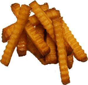 Crinkle Cut Fries 10 piece fake food USA