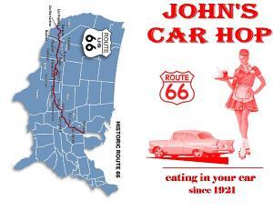 Car hop menu front and back