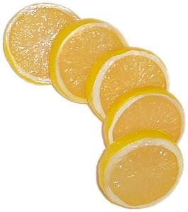 Lemon Slice 5 piece fake fruit