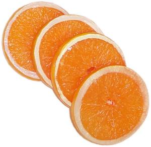 Orange Slice 4 piece fake fruit