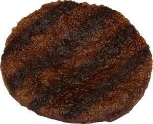 Hamburger Fake Patty Grilled 4 Pack USA