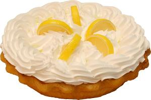 Lemon Cream Artificial Pie 9 Inch