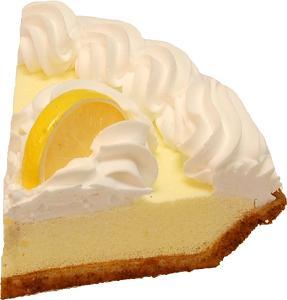 Lemon Cream Artificial Pie Slice