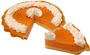 Pumpkin Pie Cream Artificial Pie with Slice Fake Pie