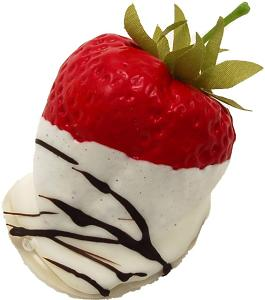 White Chocolate Swirl Dipped Strawberry fake chocolate USA