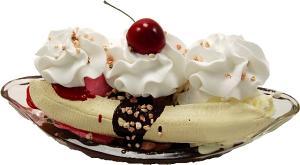 Banana Split Fake Food Ice Cream