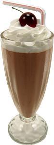 Chocolate Fake Food Milkshake Artificial Ice Cream