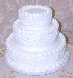 Wedding Fake Cake White Three Tier Stacked 16 Inch