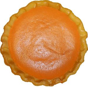 Pumpkin Pie Plain Artificial Pie Fragrance Top View