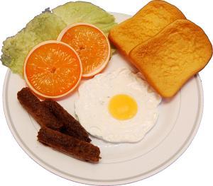 Fried Egg and Sausage Plate Fake Food USA