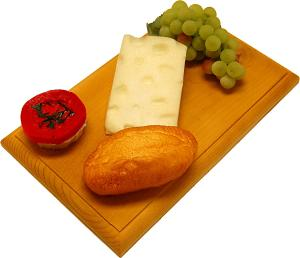 Swiss Fake Cheese Combo on Wood Board USA