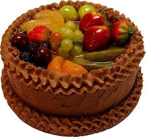 Chocolate Fake Fruit Cake B