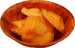 Fake Potato Chips Clumps in Bowl USA