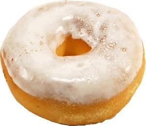 Large Glazed Fake Doughnut Soft Touch