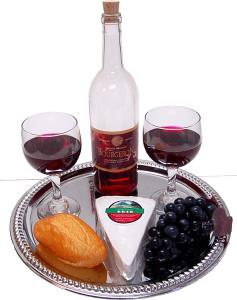 Cheese and Wine Fake Food Tray