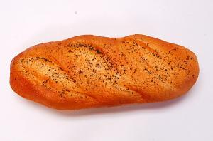 French Loaf 11 inch Poppy Seed Fake Bread