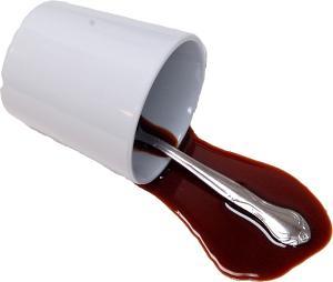Coffee Fake Drink Spill B