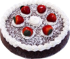 Chocolate Strawberry Fake Sponge Cake