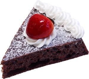 Chocolate Strawberry Fake Sponge Cake Slice