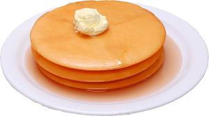 Pancakes 3 stack fake food Plate