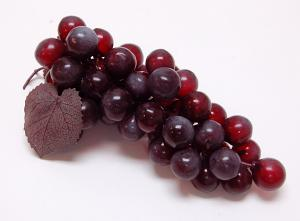 Grapes Black 8 inch Fake Fruit