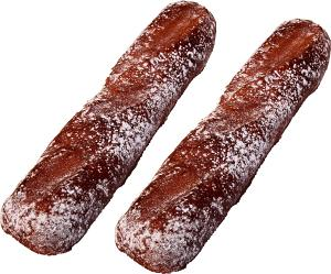 "Rustic Baguette Small Fake Bread 12"" Two Pack"