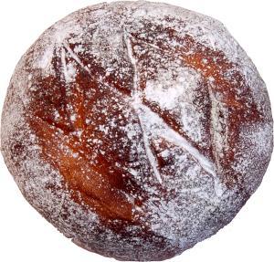 Rustic Wheat Fake Round Bread
