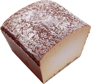 Rustic Fake Bread Wheat Loaf Half