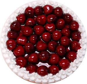 Cherry Fake Fruit Tart 8 inch top view