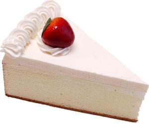 Strawberry Fake Cheesecake Slice