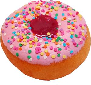 Large Pink Fake Jelly Doughnut Soft Touch