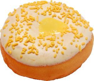Large Fake Lemon Custard Doughnut Soft Touch