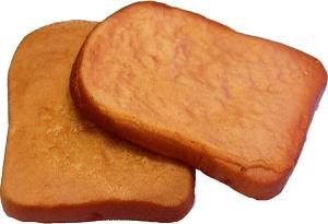 Toast 2 pack Fake Bread