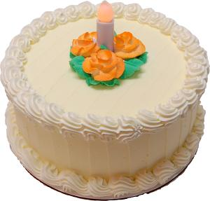 LED Candle Lemon Designer Rose Fake Cake 9 inch