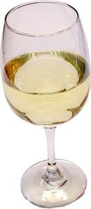 White Wine Glass Fake Drink