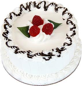 "Vanilla 6"" Raspberry Drizzle Fake Cake"