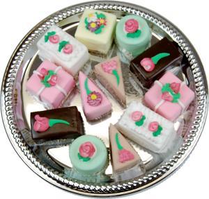 Mini Fakey Cakes 12 pack Assortment Petit Fours Fake Food TOP