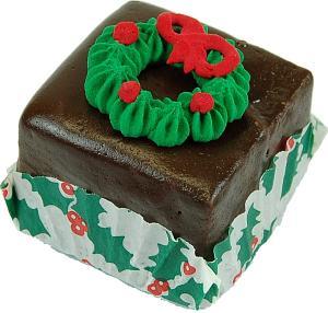 Mini Christmas Fakey Cakes Chocolate