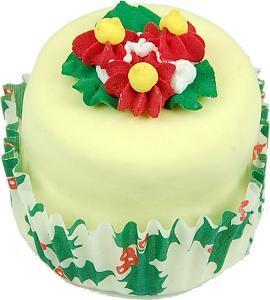 Mini Christmas Fakey Cakes Round