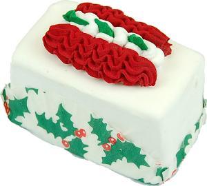 Mini Christmas Fakey Cakes Ribbon