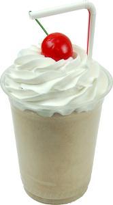 Chocolate Fake Food Milkshake Plastic Cup