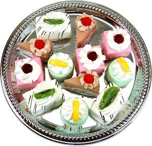 Mini Fruit Fakey Cakes 12 pack Assortment Petit Fours Fake Food top