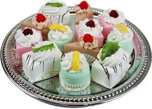 Mini Fruit Fakey Cakes 12 pack Assortment Petit Fours Fake Food