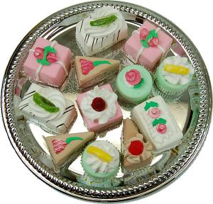 Mini Mixed Fakey Cakes 12 pack Assortment Petit Fours Fake Food