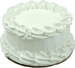 Fake White Cake Blank 6 inch