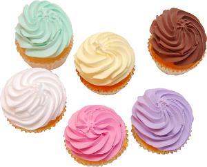 Fake Cupcakes Plain 6 Pack Assortment